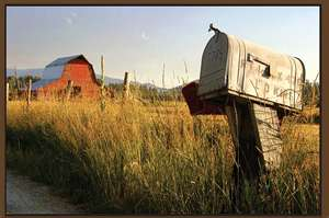 barn with mailbox