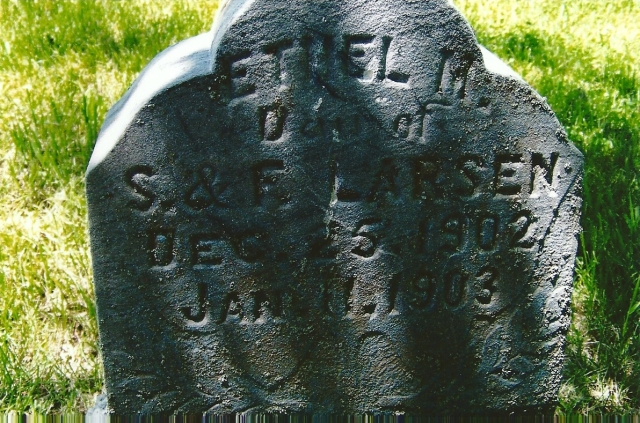 Larsen.Soren.Frederikke's infant dau, NB cemetery, photo taken by Sharon 2010